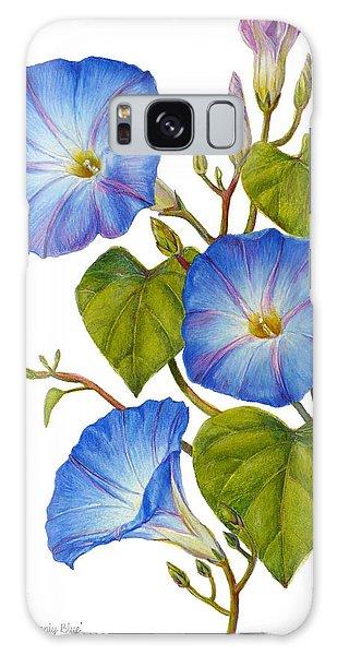 Morning Glories - Ipomoea Tricolor Heavenly Blue Galaxy Case