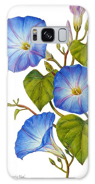 Morning Glories - Ipomoea Tricolor Heavenly Blue Galaxy Case