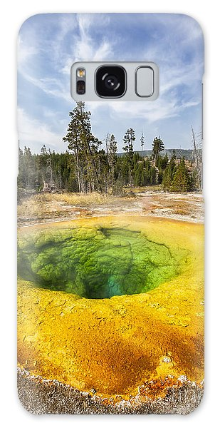 Morning Glory Pool In Yellowstone National Park Galaxy Case