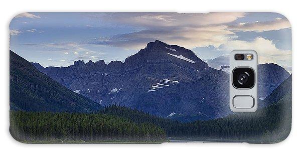 Morning Glow At Glacier Park Galaxy Case