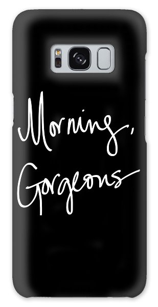 Black And White Art Galaxy Case - Morning Gorgeous by South Social Studio