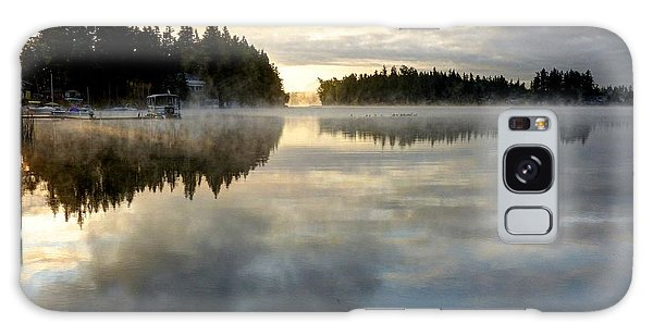 Morning Lake Reflection Galaxy Case by Peter Mooyman