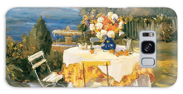Outdoor Dining Galaxy Case - Morning Light by Allayn Stevens