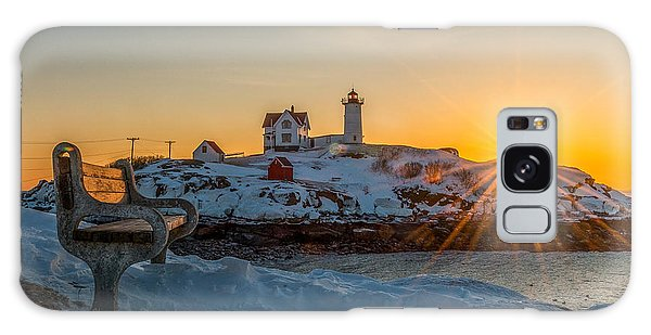 Morning Light At Nubble Lighthouse Galaxy Case