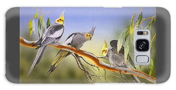 Morning Light - Cockatiels Galaxy Case by Frances McMahon