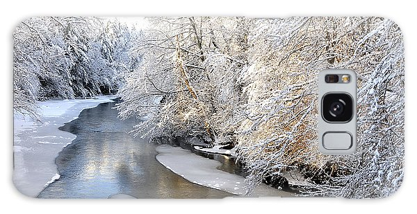 Morning Light Fresh Snowfall Gauley River Galaxy Case