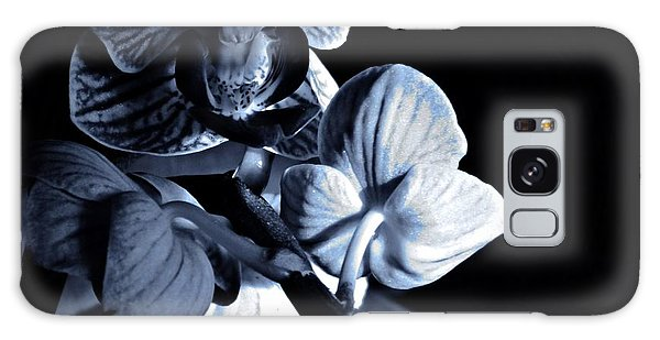 Morning Light Orchids Cyan Galaxy Case