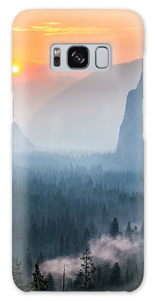 Morning Mist In The Valley Galaxy Case by Mike Lee
