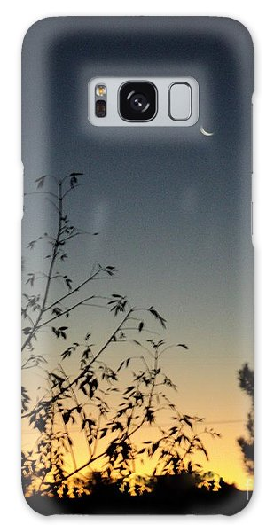 Morning Moonshine Galaxy Case by Carla Carson