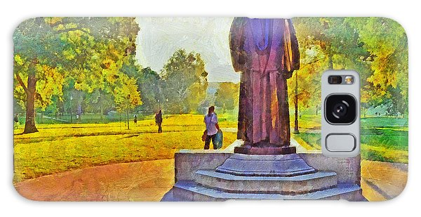 The William Oxley Thompson Statue. The Ohio State University Galaxy Case