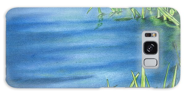 Morning On The Pond Galaxy Case by Troy Levesque