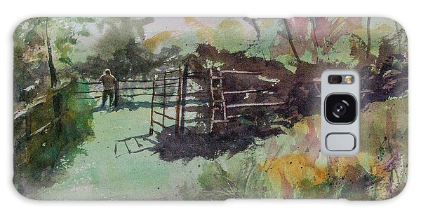 Morning On The Sheep Farm Galaxy Case