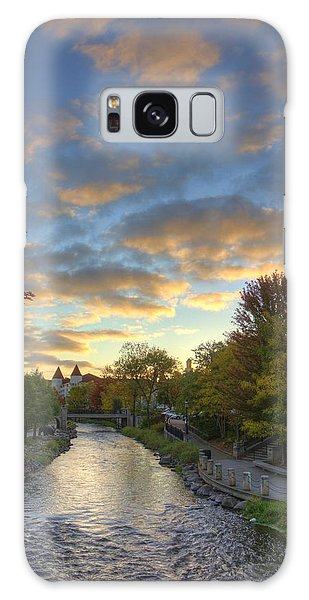 Morning Sky On The Fox River Galaxy Case