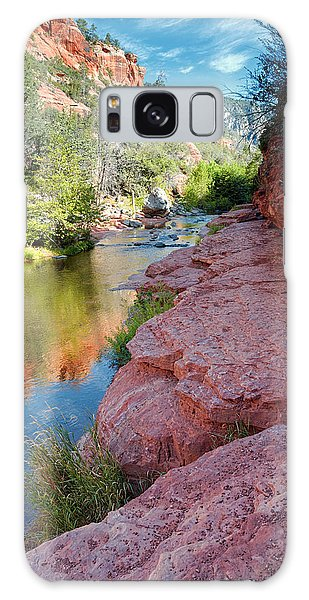 Morning Sun On Oak Creek - Slide Rock State Park Sedona Arizona Galaxy Case