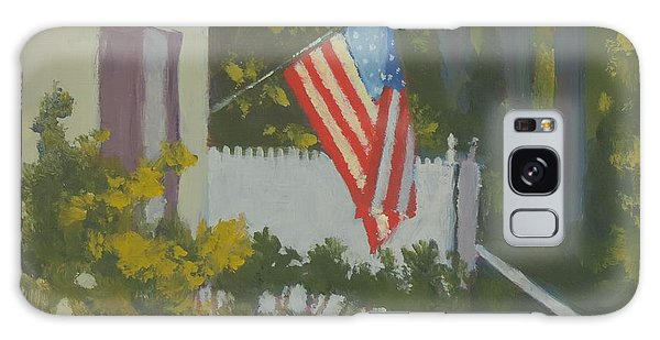 Morning Sun On Old Glory - Art By Bill Tomsa Galaxy Case