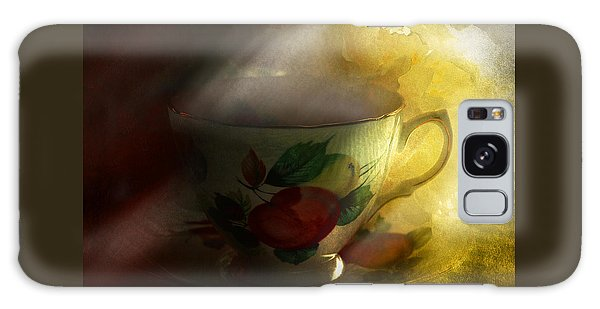 Morning Tea With Peony Galaxy Case by Jeff Burgess
