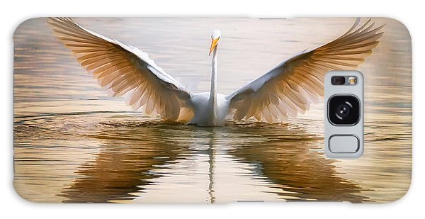 Morning Wings An Egret Awakes Galaxy Case
