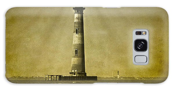Morris Island Light Vintage Bw Uncropped Galaxy Case
