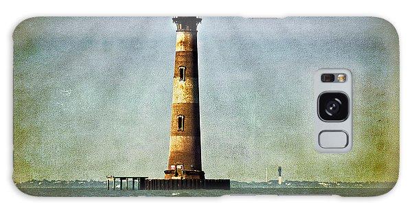 Morris Island Light Vintage Color Uncropped Galaxy Case