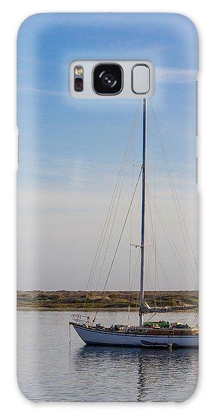 Sailboat At Anchor In Morro Bay Galaxy Case