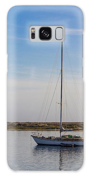Sailboat At Anchor In Morro Bay Galaxy Case