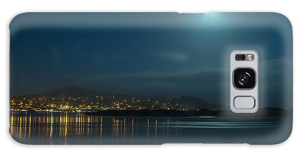 Morro Bay At Night Galaxy Case by Terry Garvin