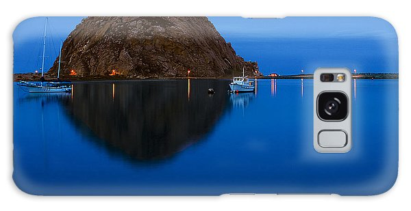 Morro Bay Calm Morning Galaxy Case by Terry Garvin