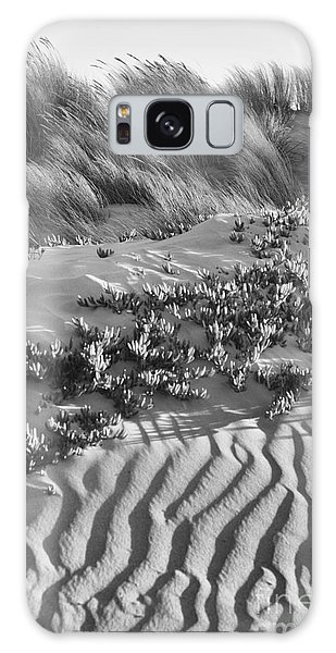 Morro Beach Textures Bw Galaxy Case by Terry Garvin
