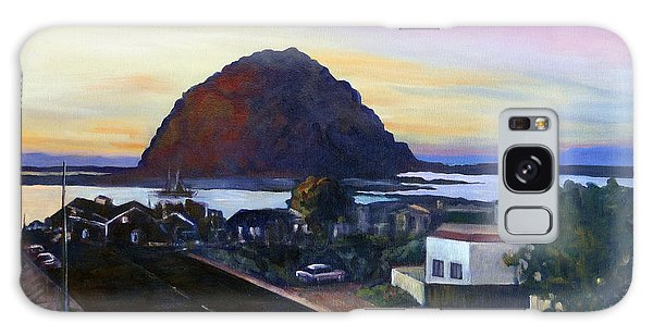 Morro Rock At Night Galaxy Case