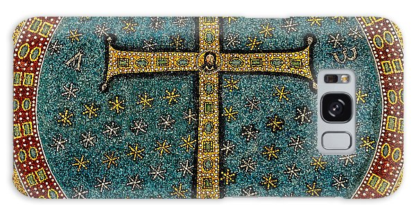Mosaic Cross Ravenna I Galaxy Case