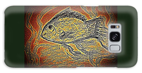 Mosaic Goldfish In Charcoal Galaxy Case by Antonia Citrino