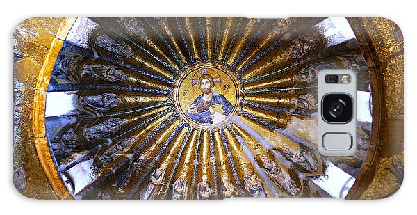 Sacred Heart Galaxy Case - Mosaic Of Christ Pantocrator by Stephen Stookey