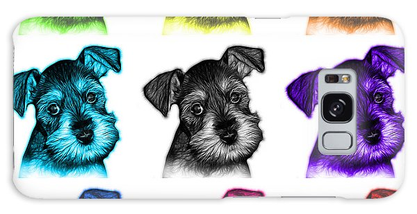 Mosaic Salt And Pepper Schnauzer Puppy 7206 F - Wb Galaxy Case