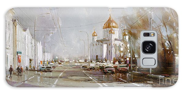 Moscow. Cathedral Of Christ The Savior Galaxy Case by Ramil Gappasov