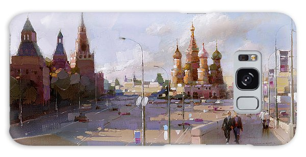 Moscow. Vasilevsky Descent. Views Of Red Square. Galaxy Case by Ramil Gappasov