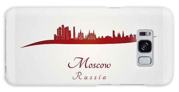 Moscow Skyline Galaxy S8 Case - Moscow Skyline In Red by Pablo Romero