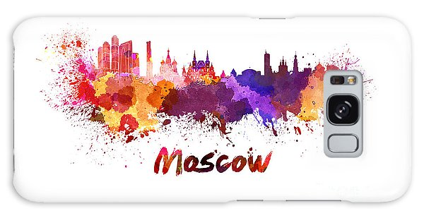 Moscow Skyline Galaxy S8 Case - Moscow Skyline In Watercolor by Pablo Romero