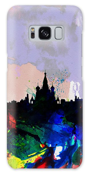 Moscow Skyline Galaxy S8 Case - Moscow Watercolor Skyline by Naxart Studio
