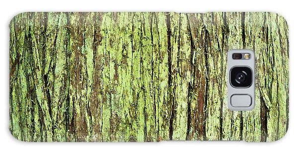 Moss On Tree Bark Galaxy Case