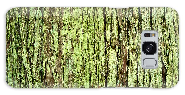 Moss On Tree Bark Galaxy Case