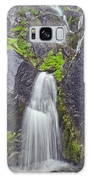 Mossy Waterfall Galaxy Case by Jeff Goulden