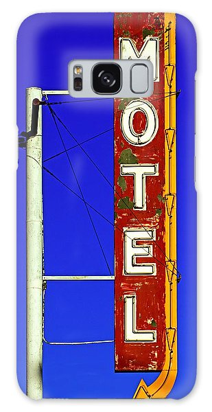 Motel Sign On Route 66 Galaxy Case by Daniel Woodrum