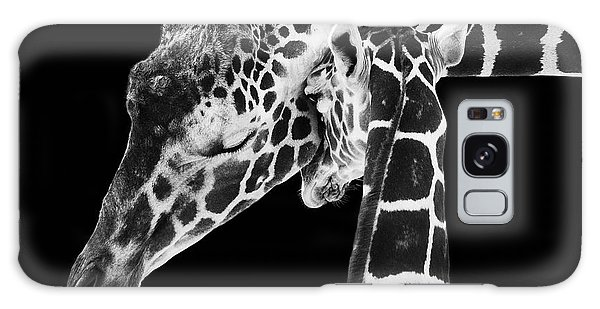 Mother And Baby Giraffe Galaxy Case