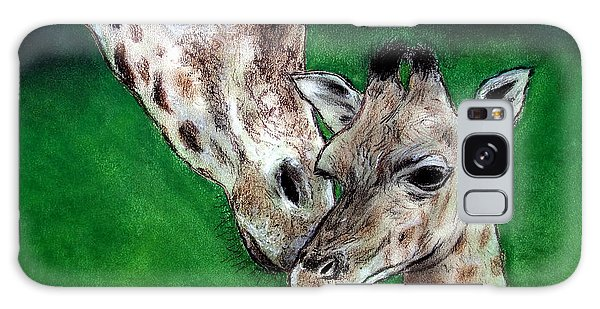 Mother And Baby Giraffe Galaxy Case by Jim Fitzpatrick
