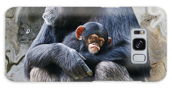 Mother And Child Chimpanzee 2 Galaxy Case