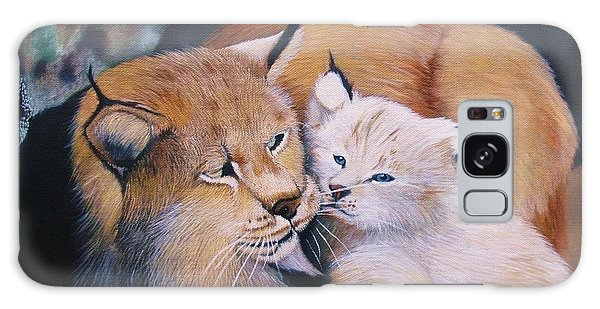 Mother And Kitten Bobcat Galaxy Case by Jean Yves Crispo