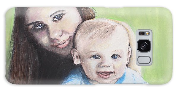 Mother And Son Galaxy Case by Jeanne Fischer