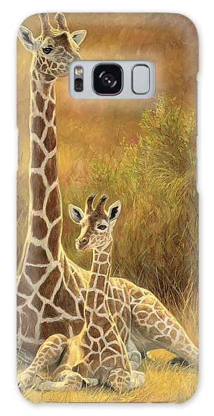 Outdoors Galaxy Case - Mother And Son by Lucie Bilodeau