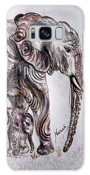 Mother Elephant Galaxy Case