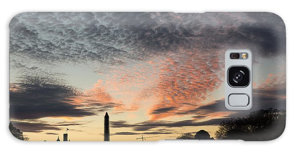 Mother Nature Painted The Sky Over Washington D C Spectacular Galaxy Case by Georgia Mizuleva